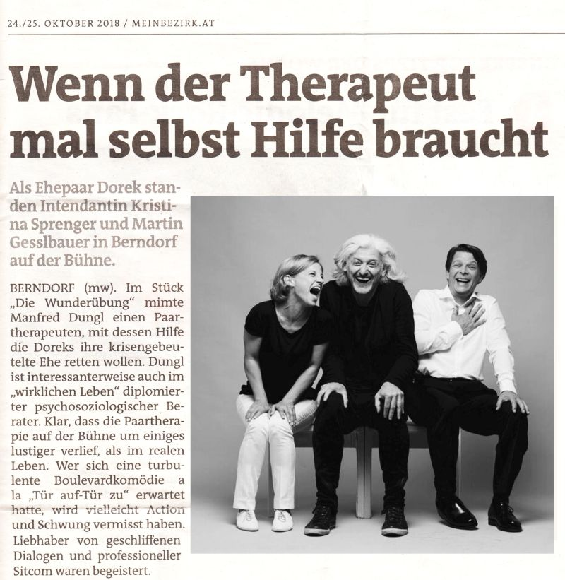 HiK - Manfred Dungl - Wenn der Therapeut mal selbst Hilfe braucht