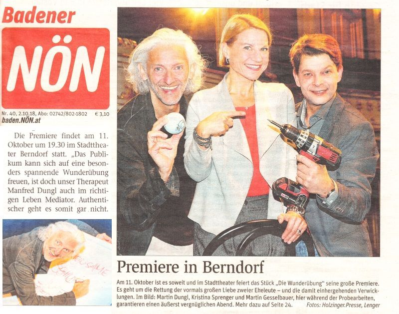 Manfred Dungl - NöN Premiere in Berndorf